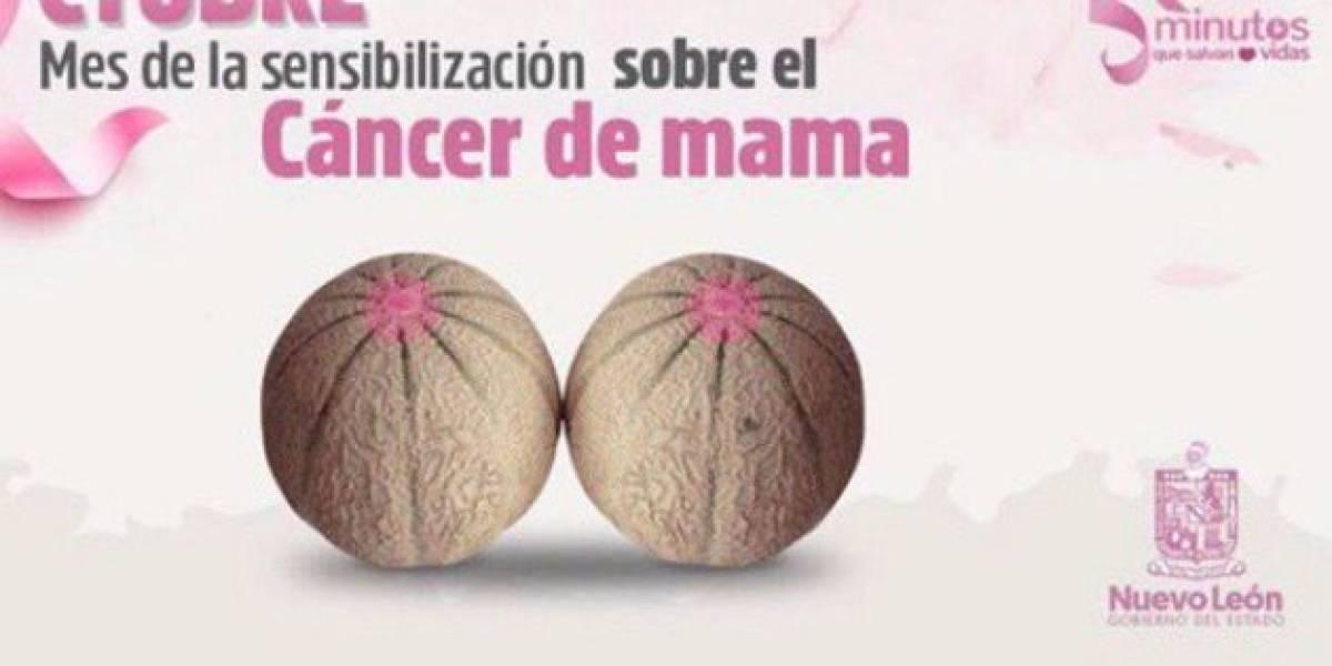 Tunden a 'El Bronco' por usar melones en campaña contra cáncer de mama