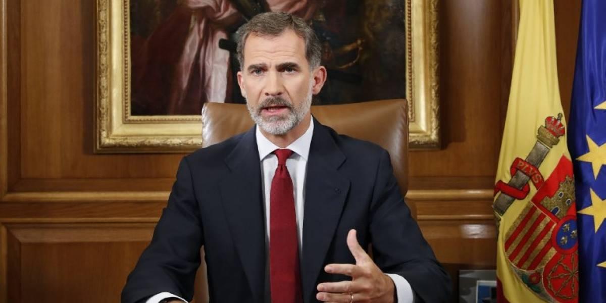 VIDEO. El rey Felipe VI llama a defender el orden constitucional en Cataluña