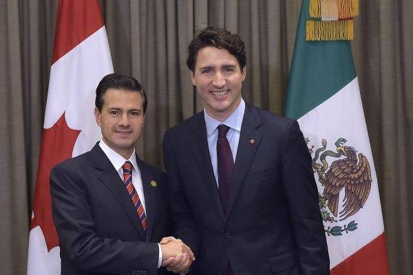 Justin Trudeau, Enrique Peña Nieto
