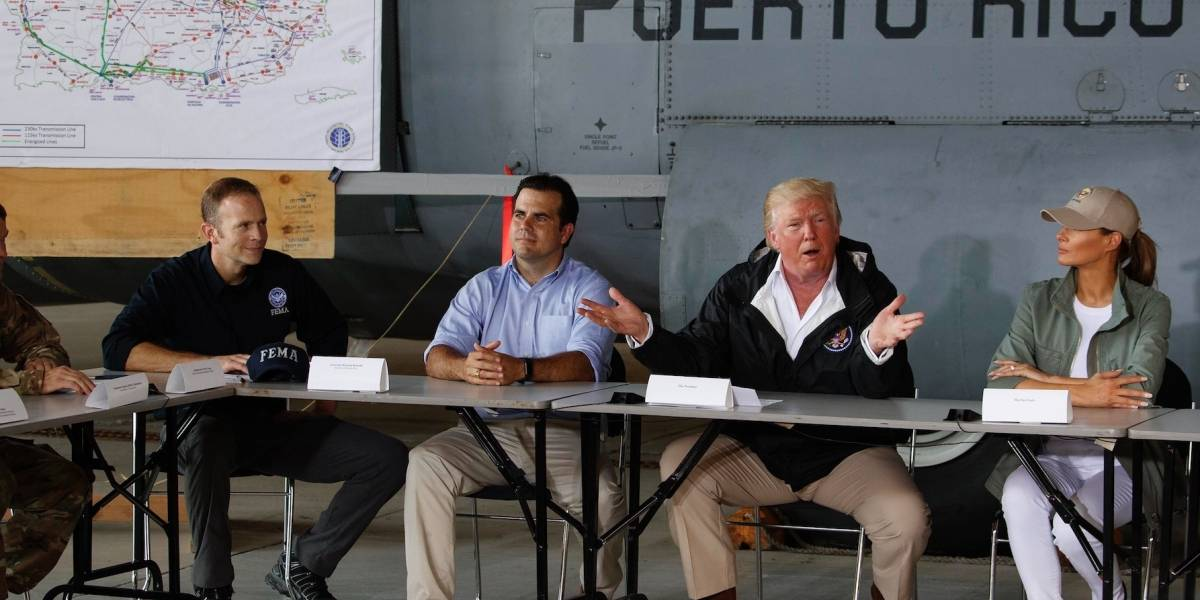 Trump llega a Puerto Rico a ayudar, aunque destaca que malgastamos el dinero federal