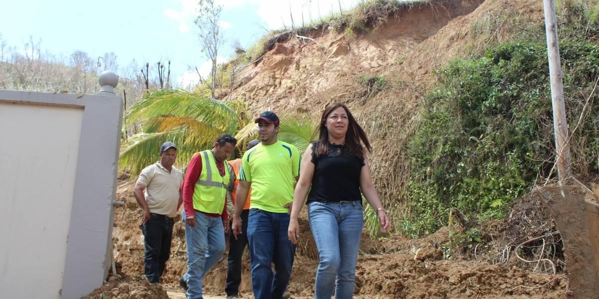 Deslizamientos de terreno causan estragos en Morovis
