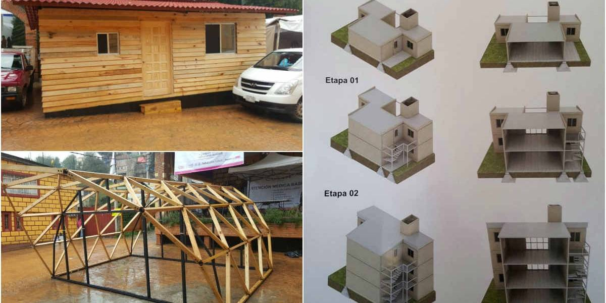 Casas de madera harán frente a sismos en tres delegaciones