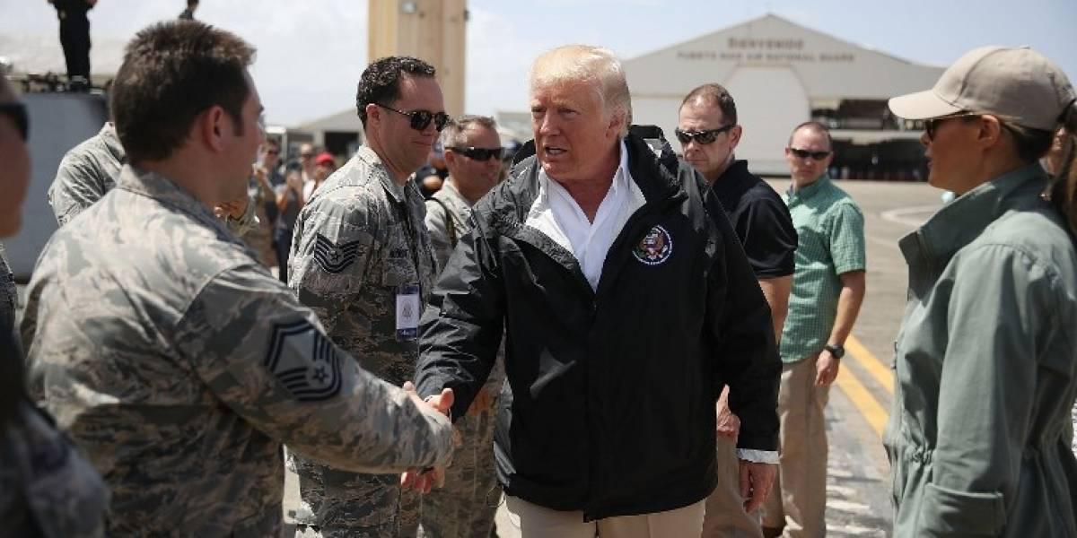 EN IMÁGENES. Trump llega a Puerto Rico tras el paso del huracán María