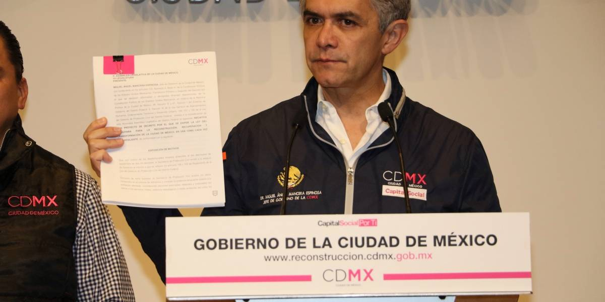 Proponen en Ley seis meses para reconstruir CDMX