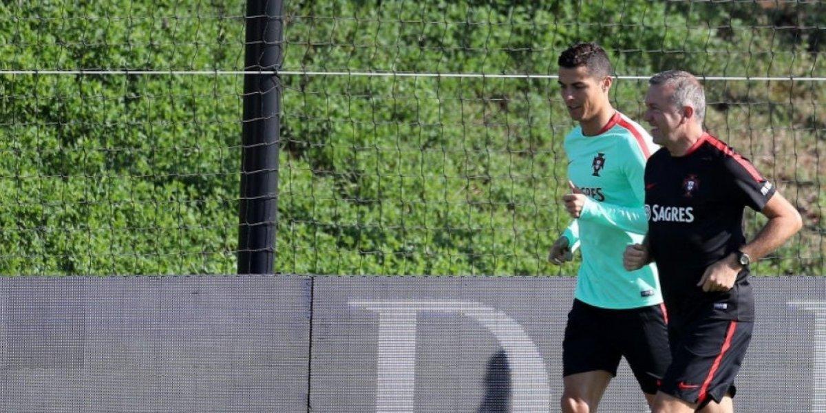 Cristiano Ronaldo se entrena por separado previo al Portugal - Andorra