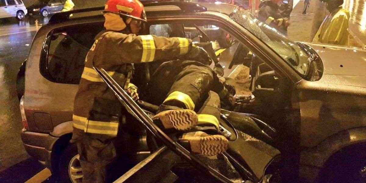 Accidente de tránsito en la Ruta Viva dejó un herido