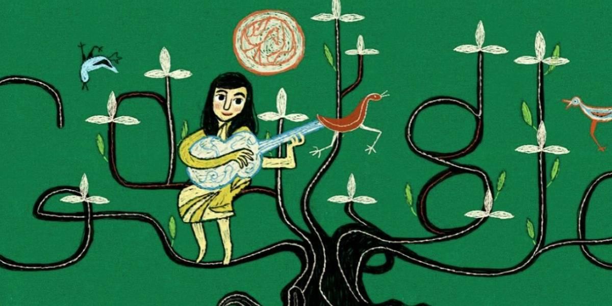 """Google conmemora el centenario de Violeta Parra con doodle inspirado en el """"Árbol de la Vida"""""""