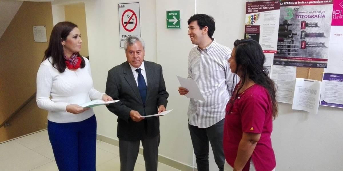 Kumamoto se registra ante el INE como aspirante a senador