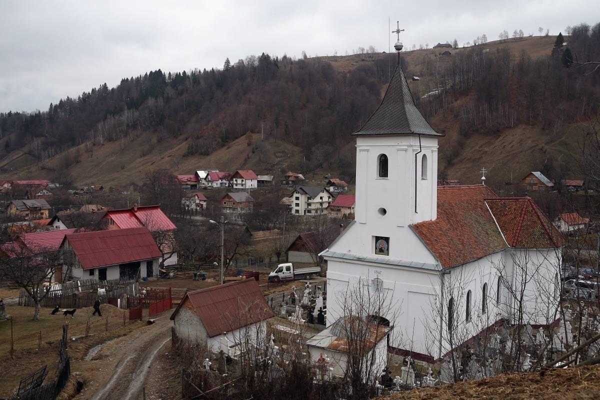 Un pueblo de la región de Transilvania, en Rumania.