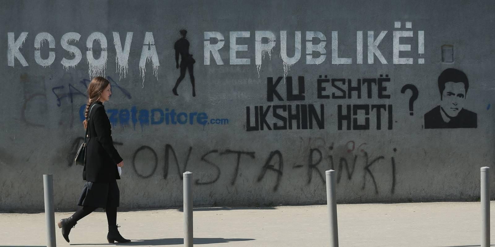 Rayado en Pristina, la capital de Kosovo.