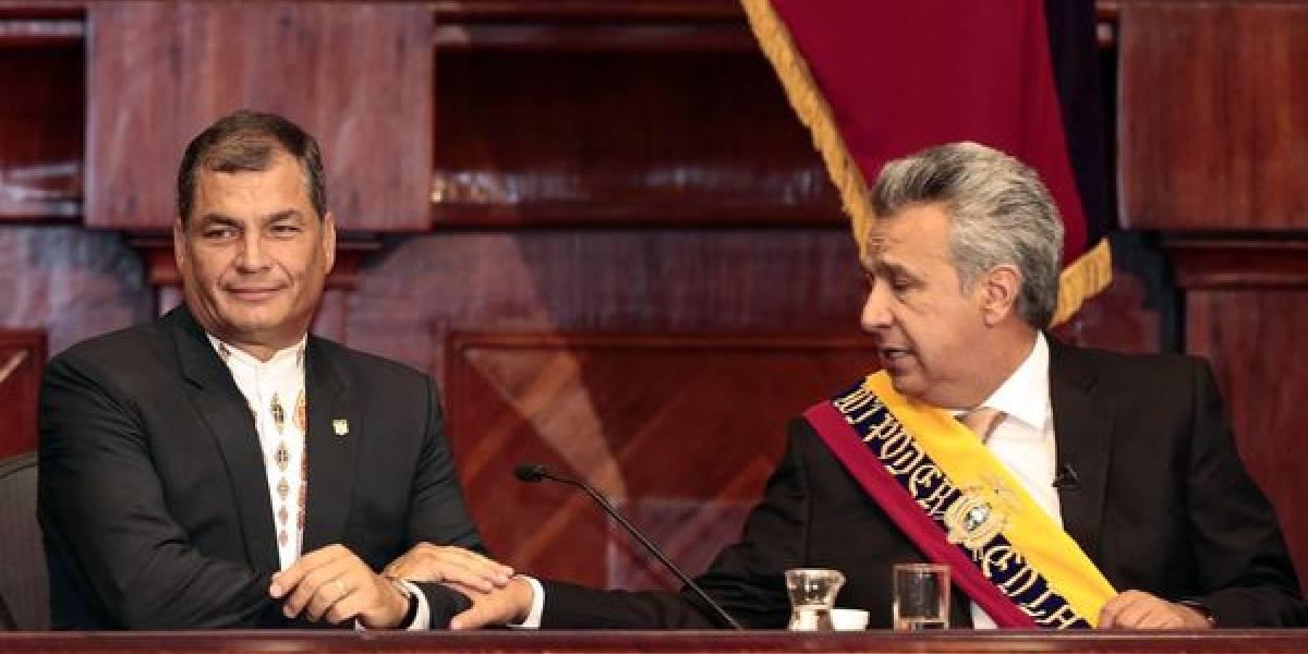 Lenin Moreno califica de sombrío y oscuro el gobierno de Correa