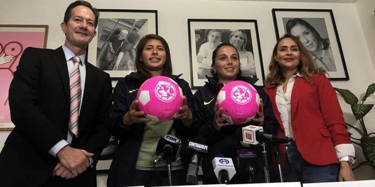 Equipos presentan campaña de 'Balón Rosa' para prevenir cáncer de mama