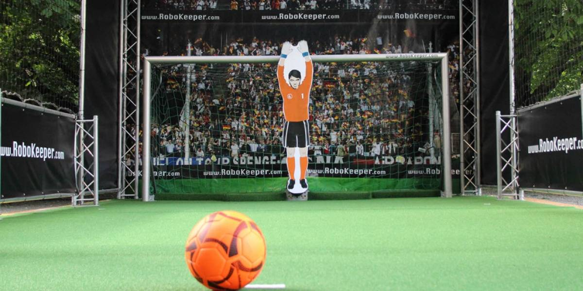 Este portero robot dice quiere retar a Cristiano Ronaldo