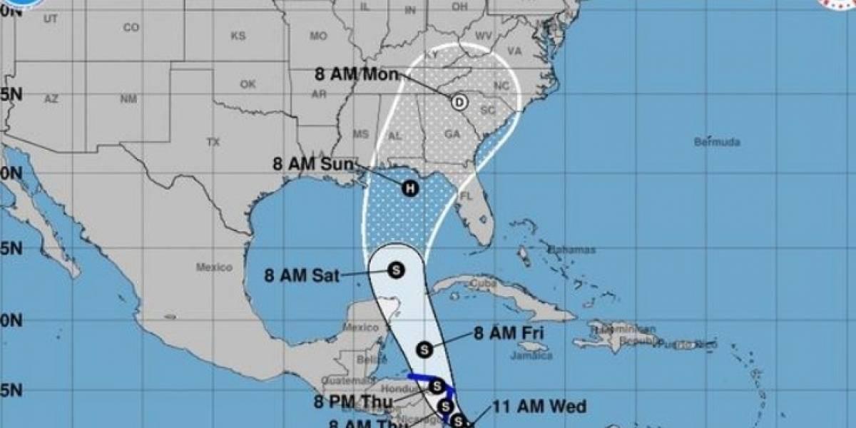 Emiten aviso de tormenta para Nicaragua y Honduras