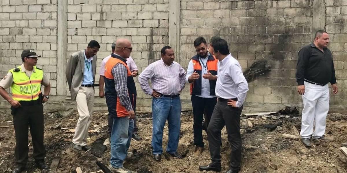 Dos menores fallecieron en incendio en Guayaquil