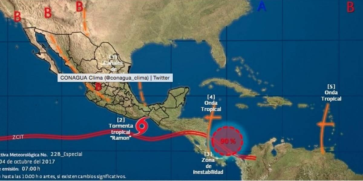 Se forma tormenta tropical 'Ramón' cerca de las costas de Oaxaca
