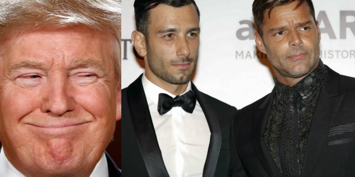 Donald Trump arruina planes de boda de Ricky Martin