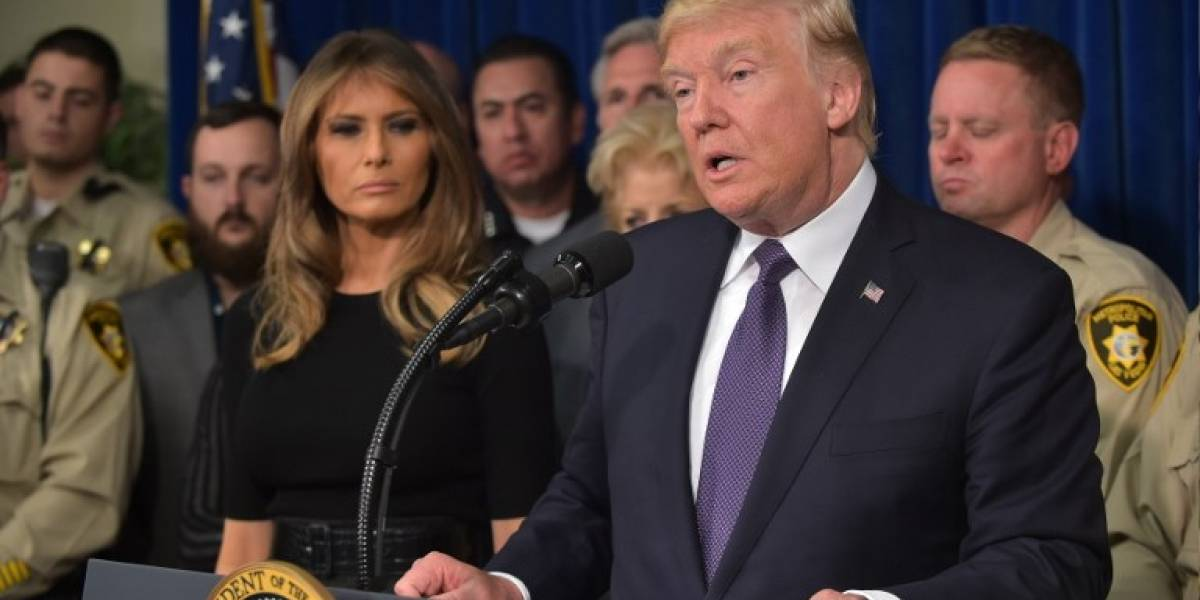 VIDEO. Trump recuerda a las víctimas del tiroteo en Las Vegas en un emotivo discurso