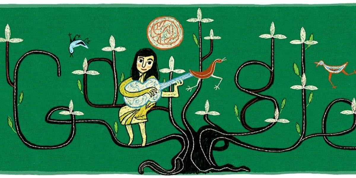 Google celebra los 100 años de Violeta Parra, cantautora chilena