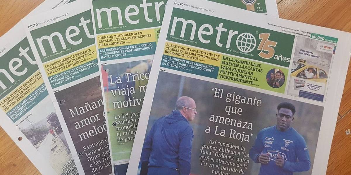 Supercom: Diario Metro Ecuador cumple auditoría de tiraje