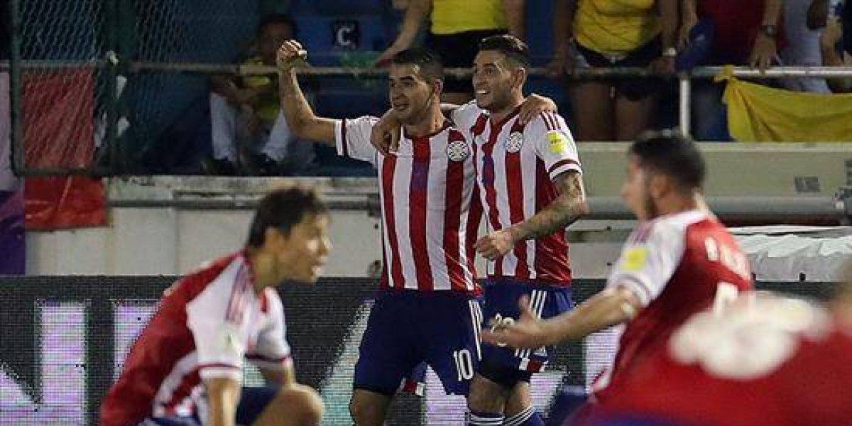 Paraguay vence a Colombia en el descuento y complica su clasificación