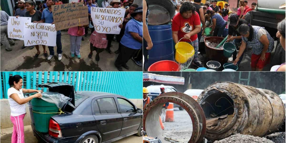 Sismo dejó mayor crisis de agua después de 1985