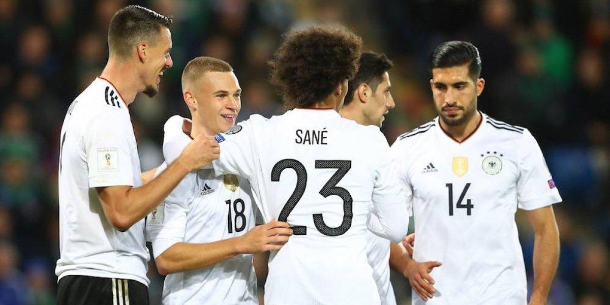 El campeón Alemania sella su pase al Mundial de Rusia