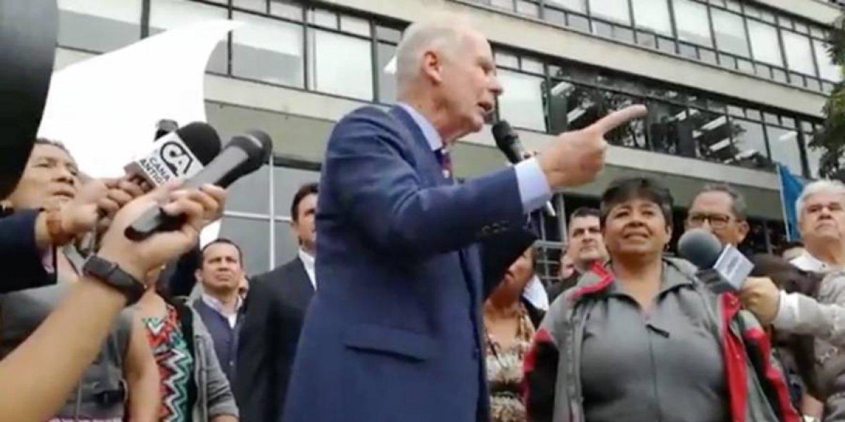 "Álvaro Arzú declara ""non grato"" de la ciudad a Iván Velásquez"