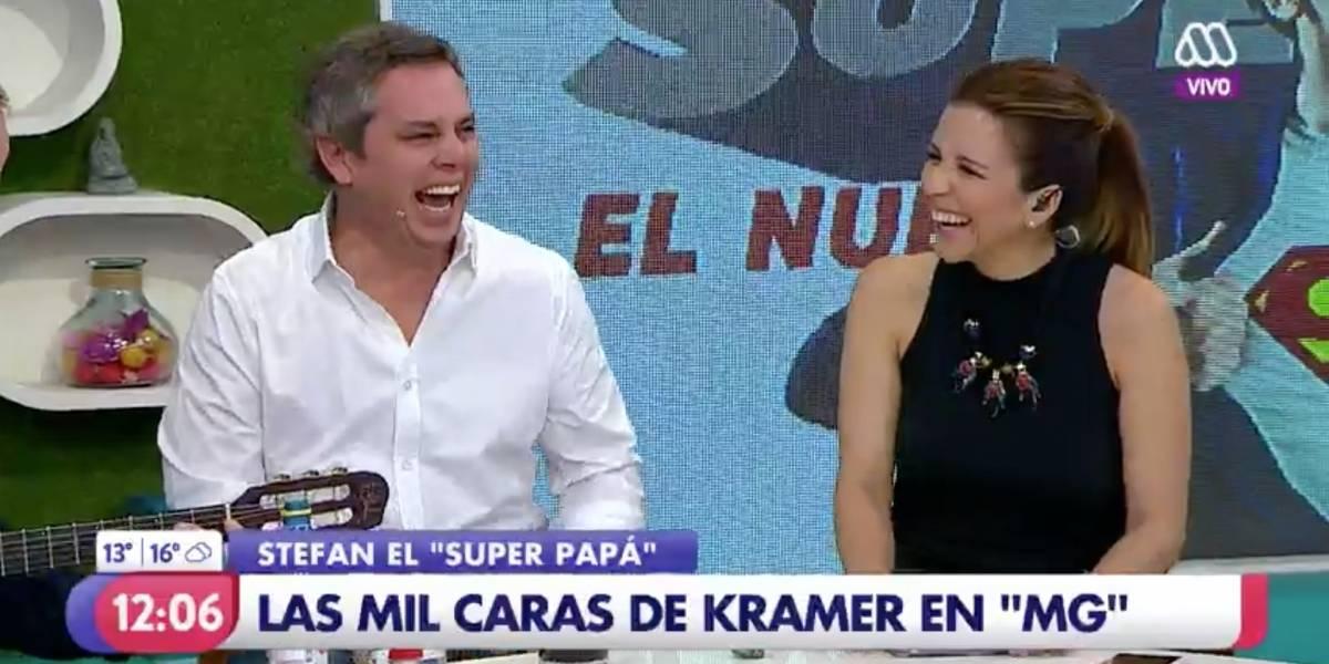 """Stefan Kramer visitó """"Mucho Gusto"""" y desató la risa de Viñuela"""