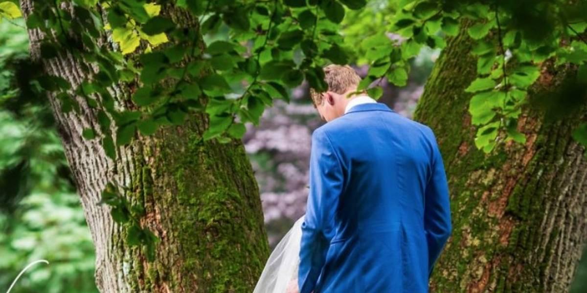 ¿No pudieron esperar hasta después de la fiesta?: la inusual e hilarante foto de recién casados que se volvió viral