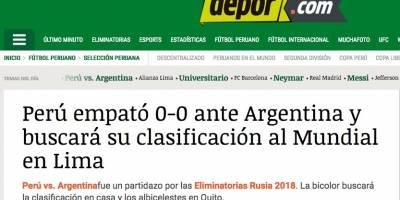 En Perú y Argentina analizaron su empate en Buenos Aires