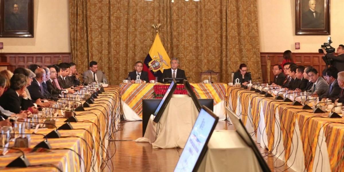 Lenín Moreno se reunió con rectores de universidades públicas, cofinanciadas y privadas