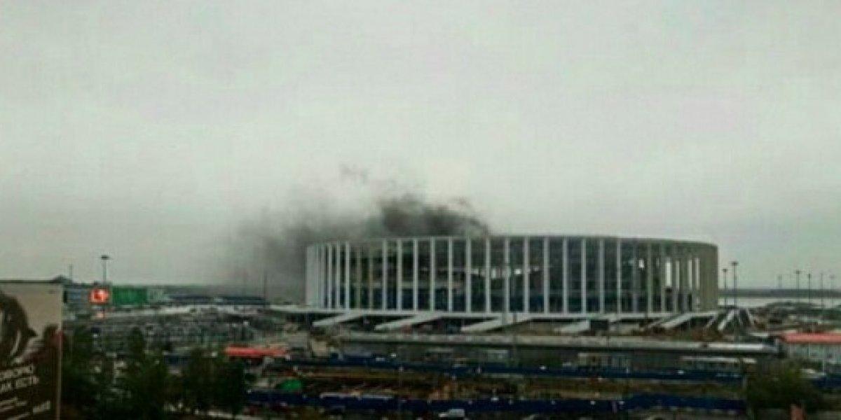 Estadio mundialista en Rusia sufre incendio