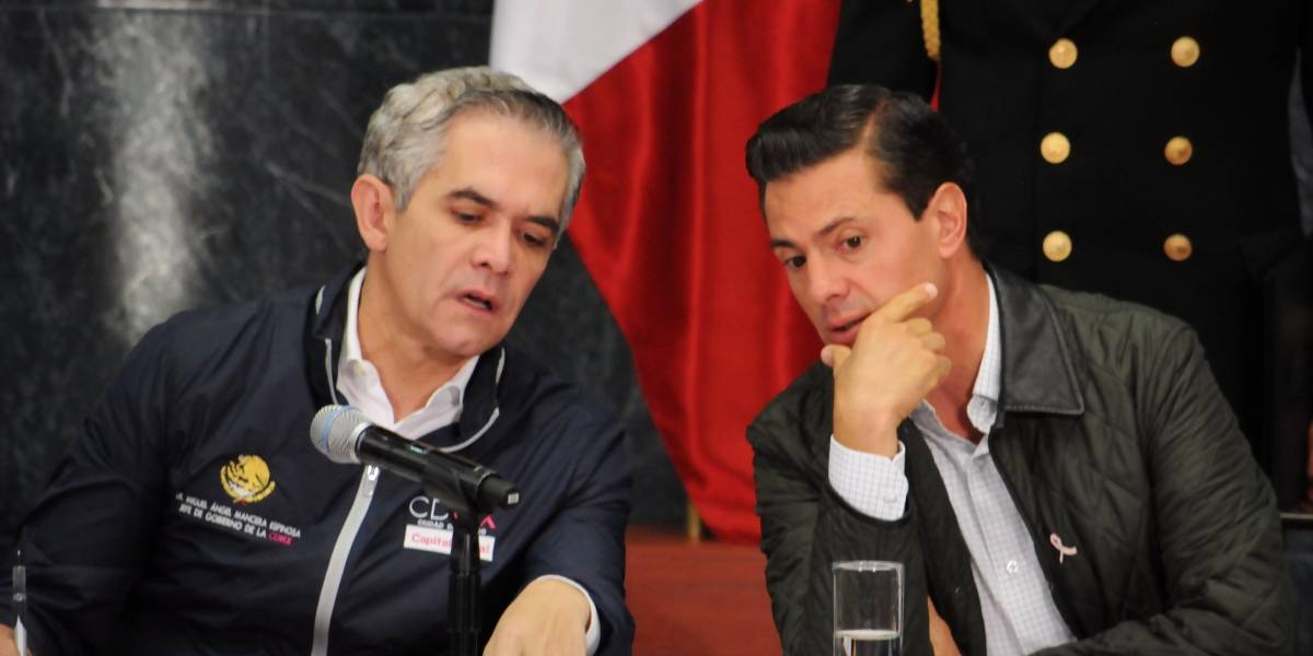 Mancera  acepta apoyo del gobierno federal para reconstrucción de la CDMX