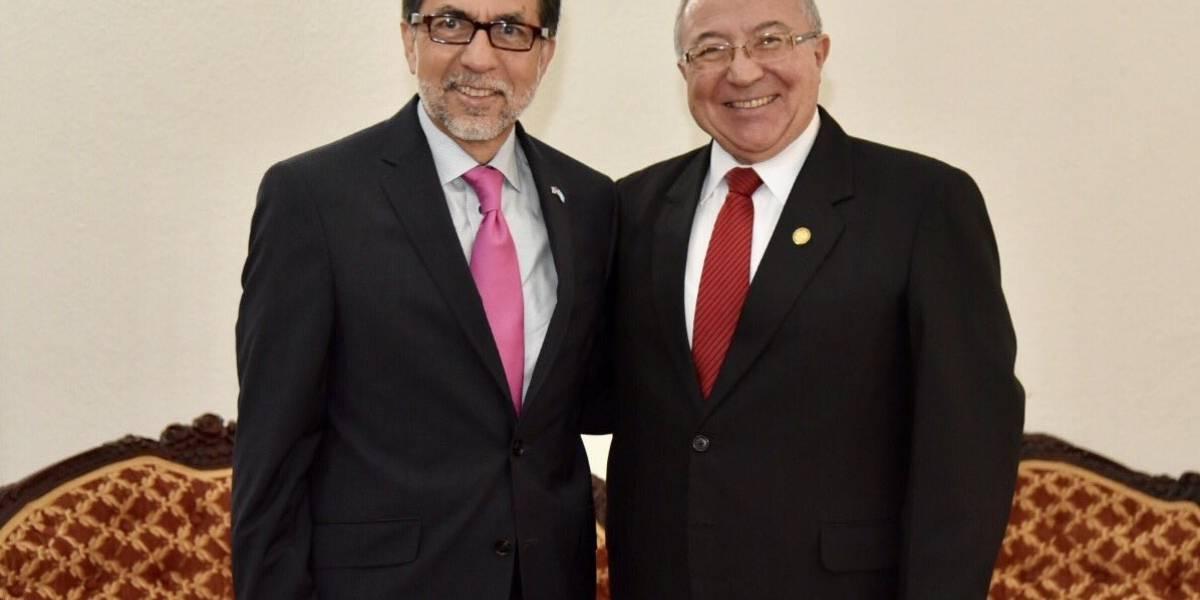 Embajador de Estados Unidos Luis Arreaga visita la Corte Suprema de Justicia