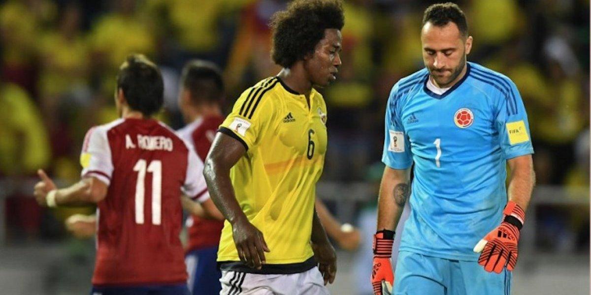 Colombia sufre ante Paraguay y suelta el boleto a Rusia 2018