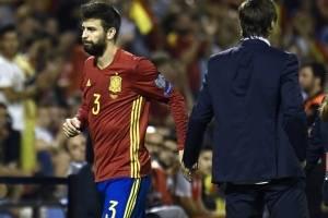 Gerard Piqué recibió pifias y aplausos en Alicante / Foto: AFP