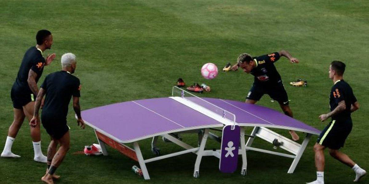 Brasil volvió a los entrenamientos con su nuevo convocado y en un relajado ambiente