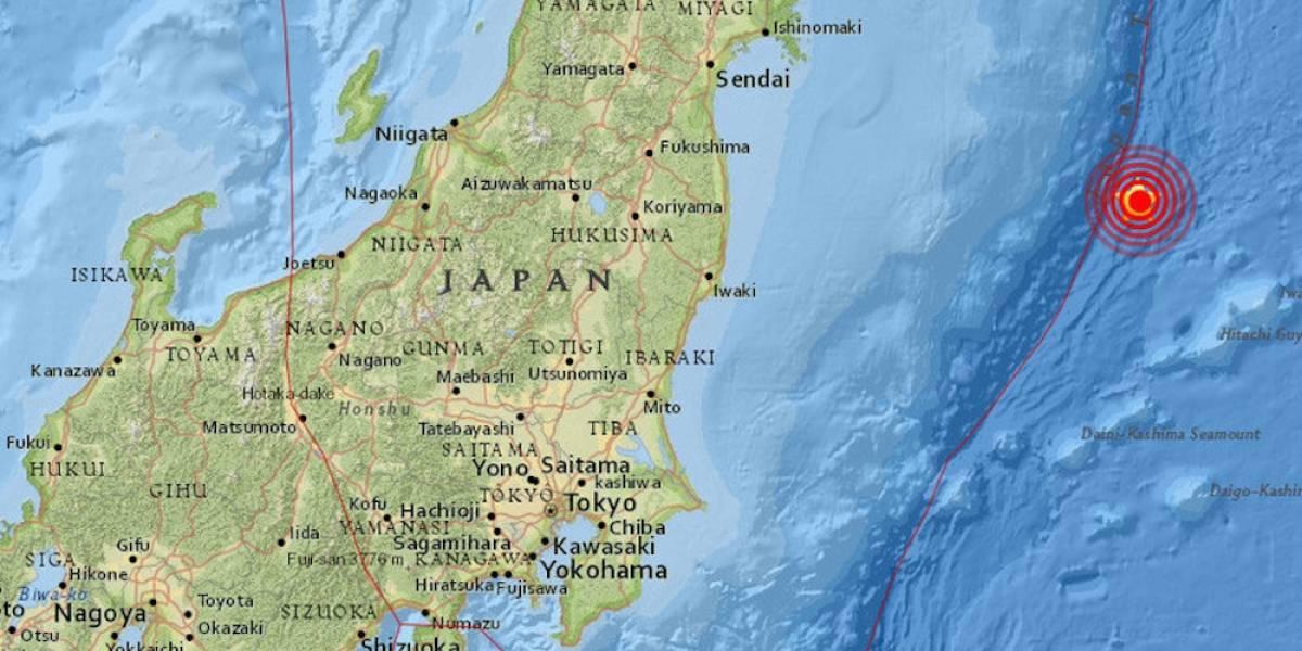 Registran sismo de 6.3 grados frente a la costa de Japón