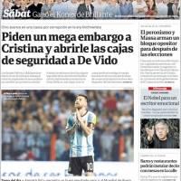 Prensa argentina decepcionada