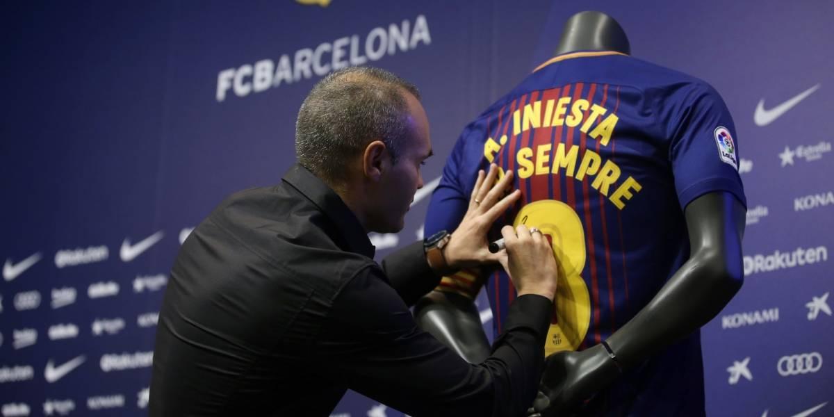 Barcelona renueva contrato con Andrés Iniesta 'de por vida'