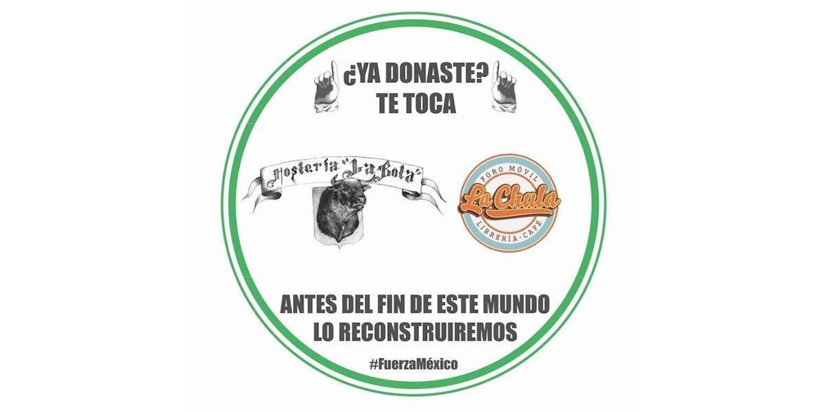 Invita La Bota a donar para los damnificados por sismos