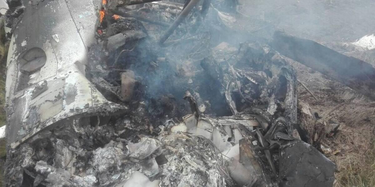 Se desploma helicóptero de la Sedena en Durango