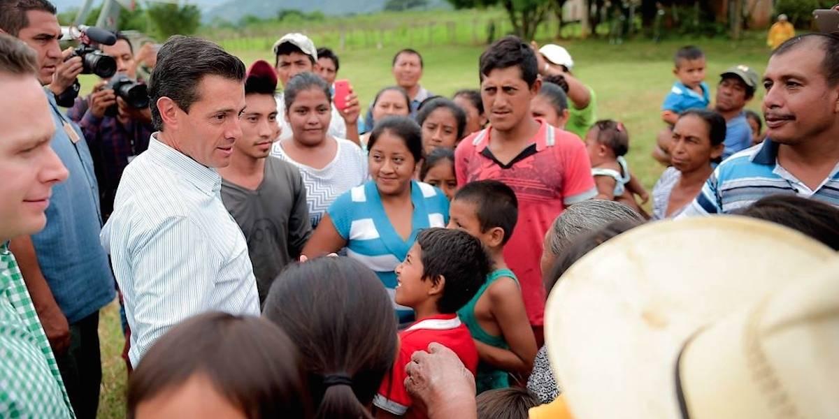 Peña Nieto supervisa labores de reconstrucción en Villaflores, Chiapas