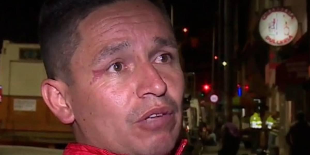 A pesar de video incriminatorio, taxista asegura que universitario era quien lo quería robar