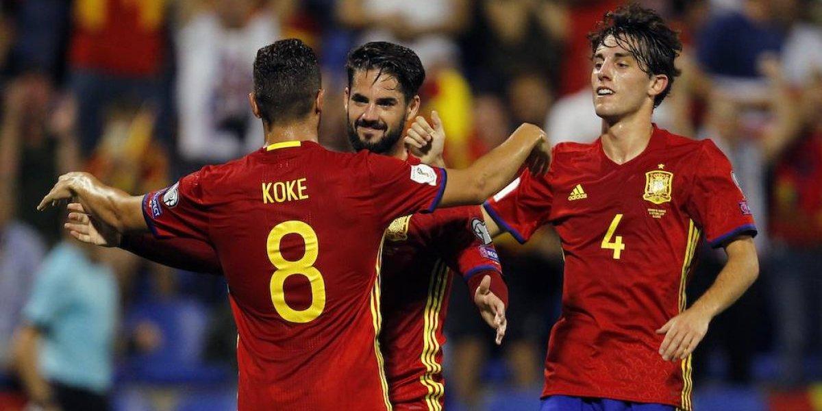 España se luce y consigue su boleto al Mundial