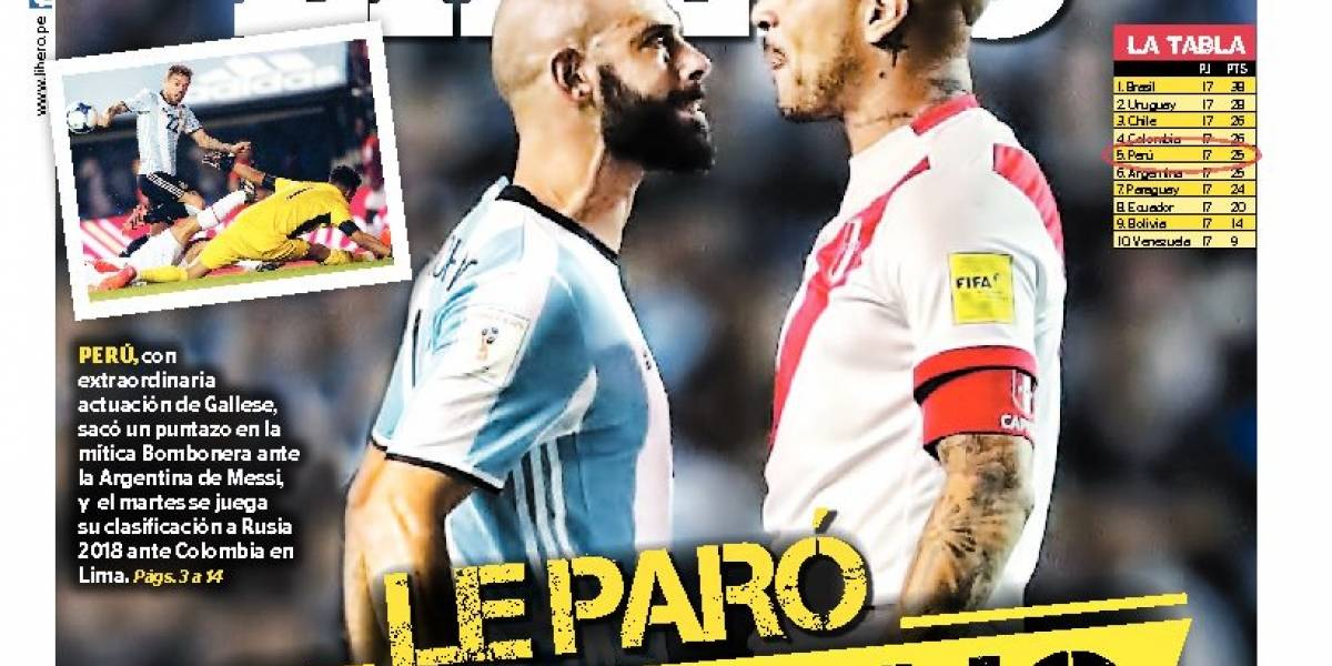 """Las portadas peruanas festejaron con todo el empate en Buenos Aires: """"Le paró el macho"""""""