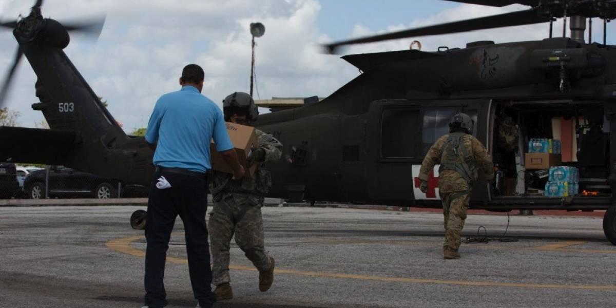 Guardia Nacional ayuda con suplido de miles de galones de agua