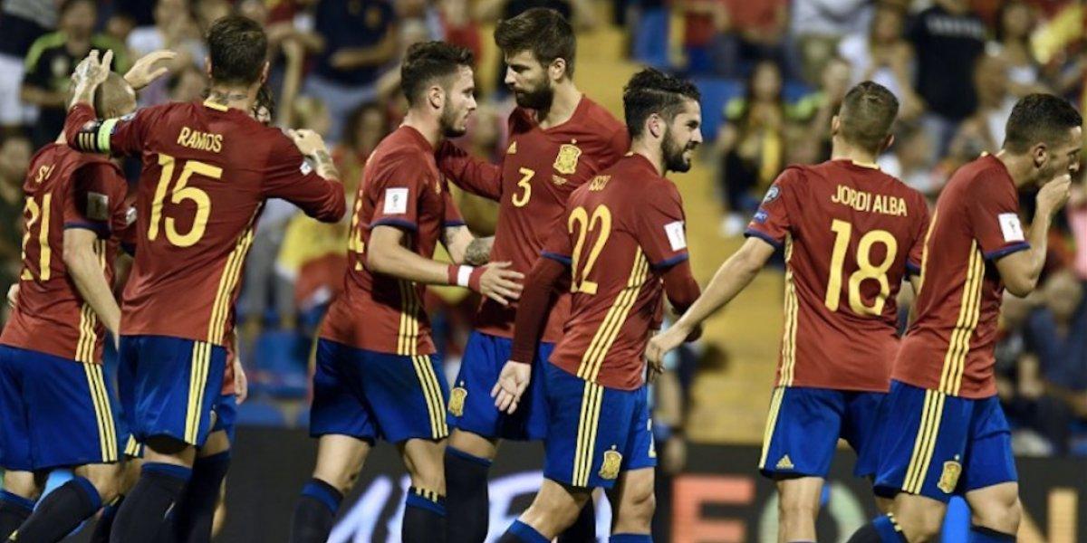 España se clasifica al Mundial de Rusia con una goleada