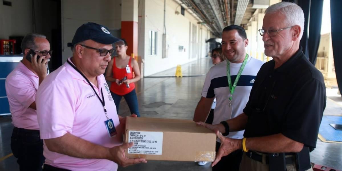 Llegan 200 toldos de FEMA a San Juan
